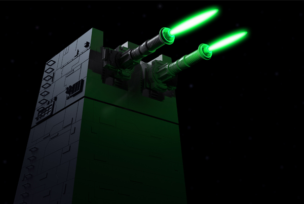 Death Star Laser Tower 3D Model